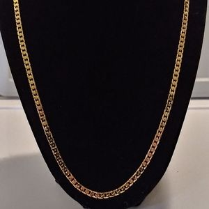 18ktgf cuban link necklace